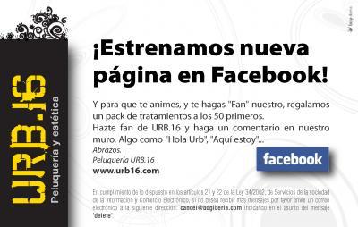 Peluqueria URB.16 en Facebook